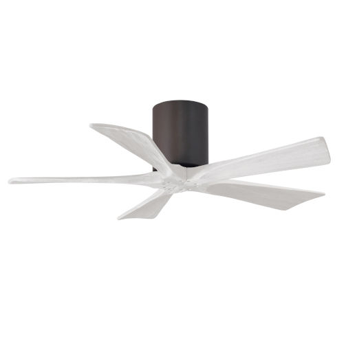 Irene-5H Textured Bronze and Matte White 42-Inch Outdoor Ceiling Fan