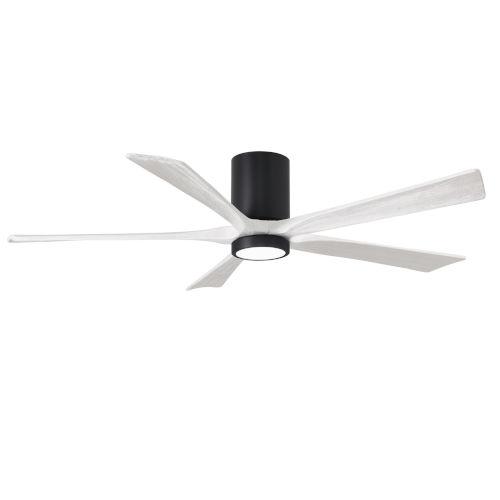 Irene-5HLK Matte Black and Matte White 60-Inch Ceiling Fan with LED Light Kit