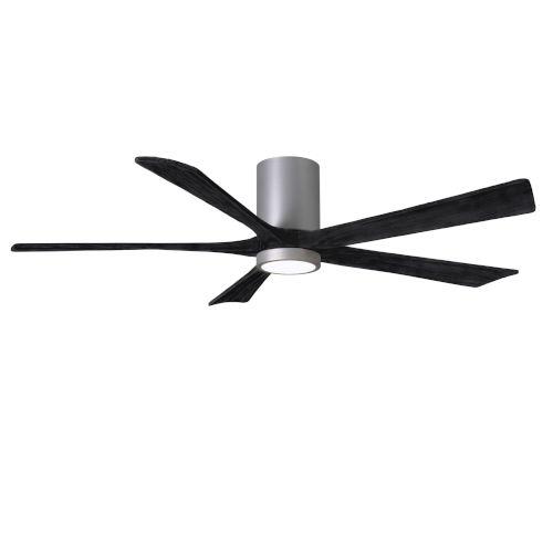 Irene-5HLK Brushed Nickel and Matte Black 60-Inch Ceiling Fan with LED Light Kit