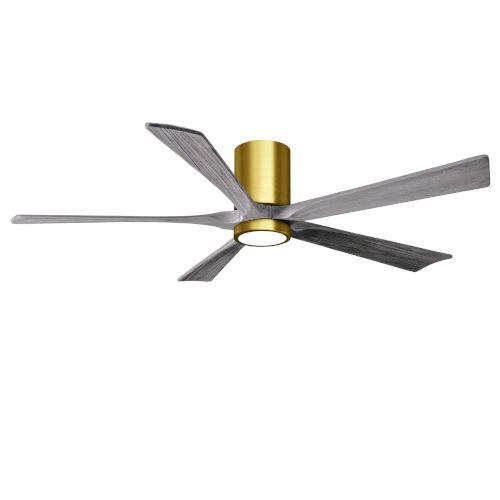 Irene-5HLK Brushed Brass and Barnwood 60-Inch Ceiling Fan with LED Light Kit