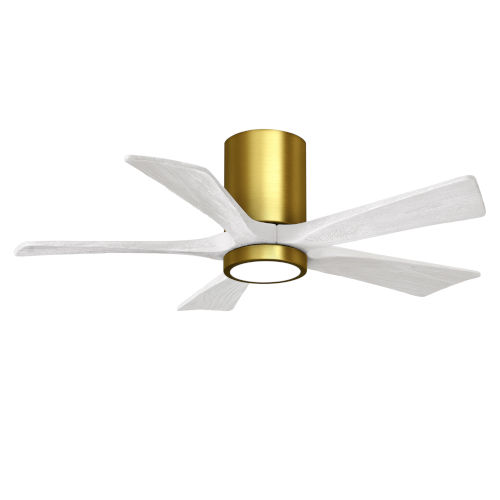Irene-5HLK Brushed Brass and Matte White 42-Inch Ceiling Fan with LED Light Kit