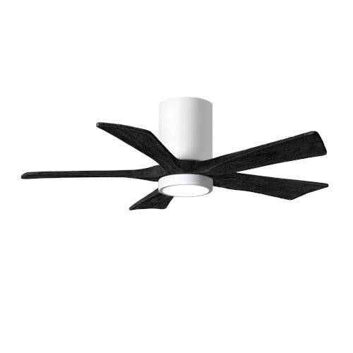 Irene-5HLK Gloss White and Matte Black 42-Inch Ceiling Fan with LED Light Kit