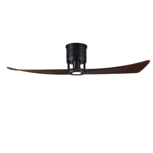 Lindsay Matte Black 52-Inch Ceiling Fan with LED Light Kit and Walnut Blades