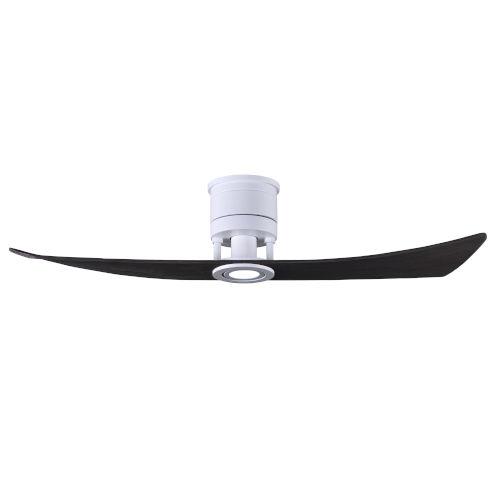Lindsay Matte White and Matte Black 52-Inch Ceiling Fan with LED Light Kit