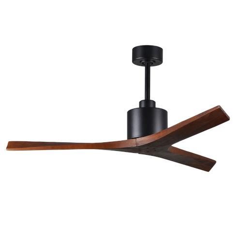 Mollywood Matte Black 52-Inch Ceiling Fan with Walnut Blades