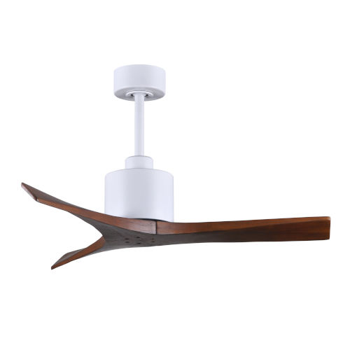 Mollywood Matte White 42-Inch Ceiling Fan with Walnut Blades
