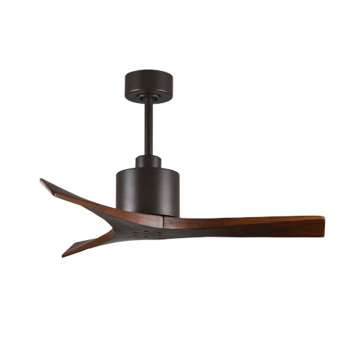 Mollywood Textured Bronze 42-Inch Ceiling Fan with Walnut Blades