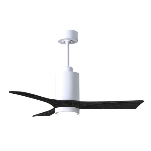 Patricia-3 Gloss White and Matte Black 42-Inch Ceiling Fan with LED Light Kit