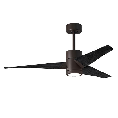 Super Janet Textured Bronze and Matte Black 52-Inch Ceiling Fan with LED Light Kit