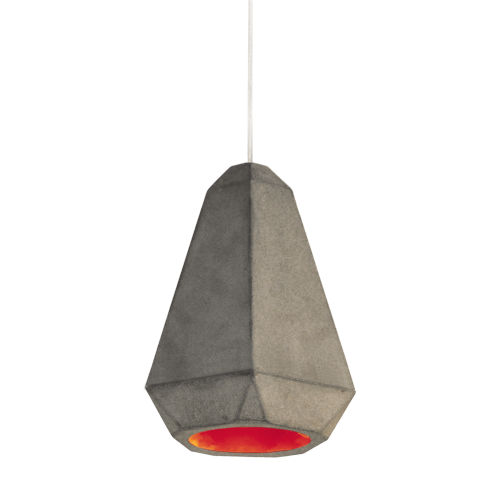 Portland Red 8-Inch One-Light Mini-Pendant with 25W