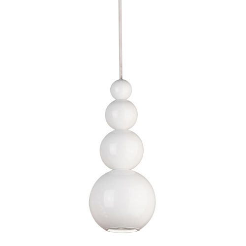 White 5-Inch One-Light Mini-Pendant with 25W