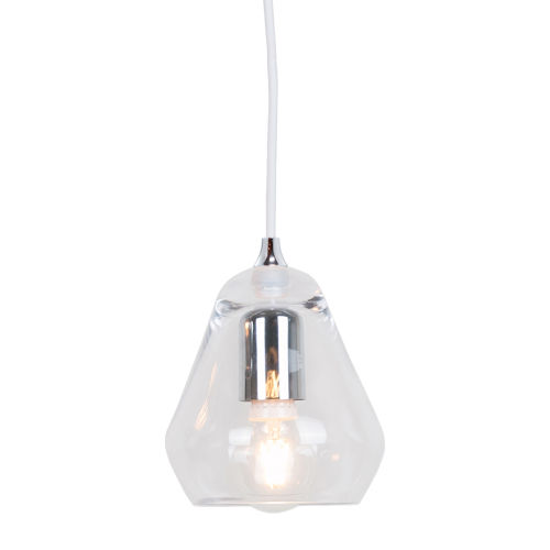 Transparent Glass 6-Inch One-Light Mini-Pendant with 60W