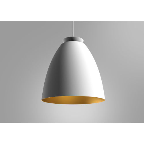 Chelsea White and Gold 17-Inch One-Light Pendant