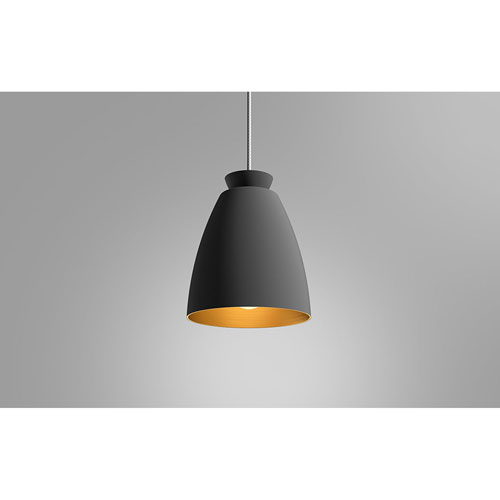 Chelsea Black and Gold 17-Inch One-Light Pendant
