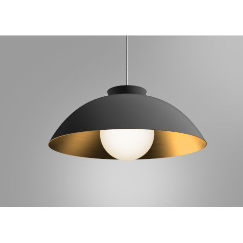 Chelsea Black and Gold 22-Inch One-Light Pendant