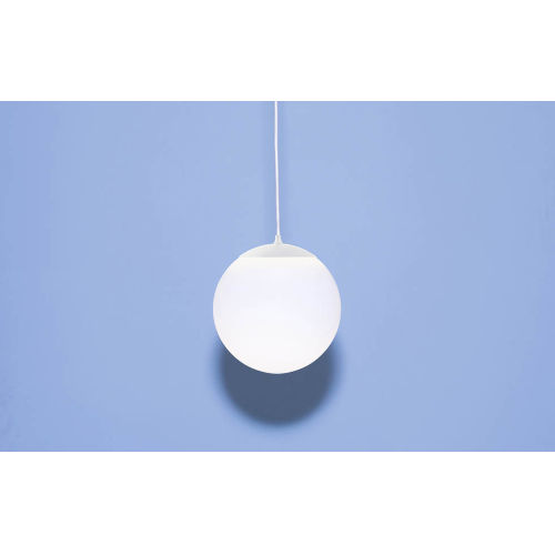 White Eight-Inch One-Light Mini-Pendant with 100W