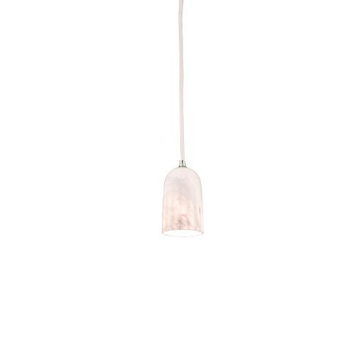 Doric Matt White Marble LED One-Light Mini-Pendant