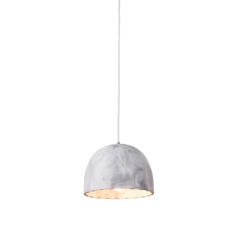 Doric Matt White Marble 8-Inch One-Light Mini-Pendant with 100W