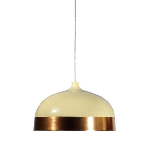 Laze Cream and Copper 13-Inch One-Light Pendant