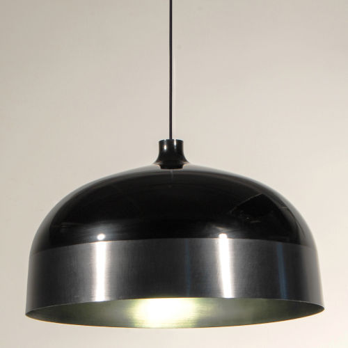 Glaze Black and Charcoal 20-Inch One-Light Pendant with 15W