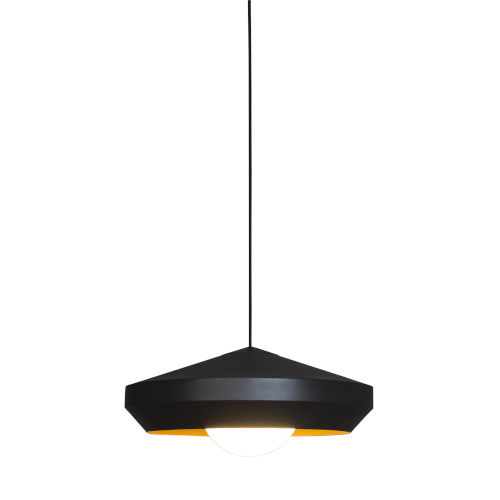 Hoxton White and Gold One-Light Pendant