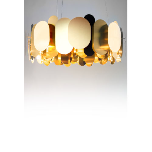 Brass 24-Light Chandelier