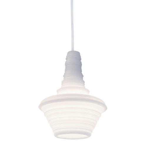 Stupa White 7-Inch One-Light Mini-Pendant with 100W
