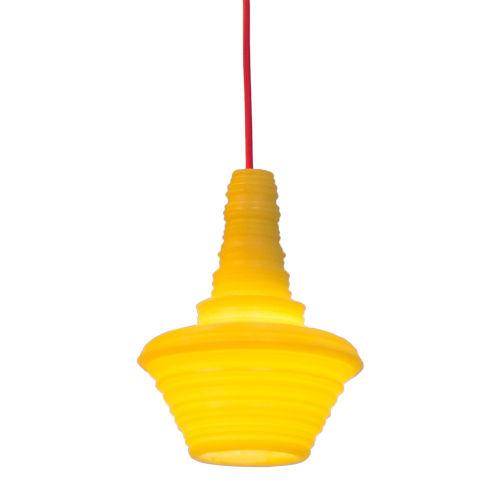 Stupa Yellow 7-Inch One-Light Mini-Pendant with 100W