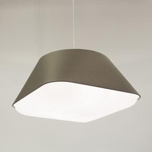 Rd2Sq Warm Grey LED One-Light Pendant