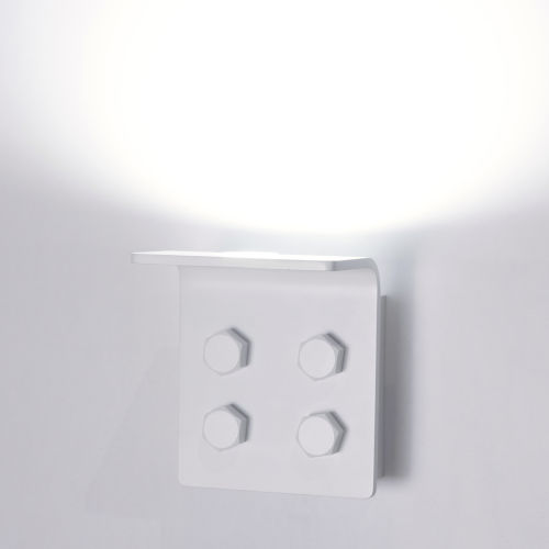 Matt White LED ADA One-Light Wall Sconce with 3000K