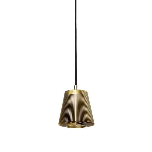 Bramah Pale Gold One-Light Mini Pendant
