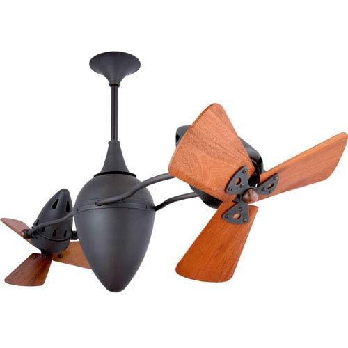 Matthews Fan Ar Ruthiane Bronze 48-Inch Ceiling Fan with Mahogany Blades