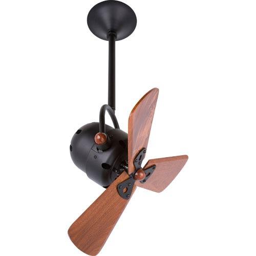 Matthews Fan Bianca Directional 16-Inch Black Ceiling Fan with Wood Blades