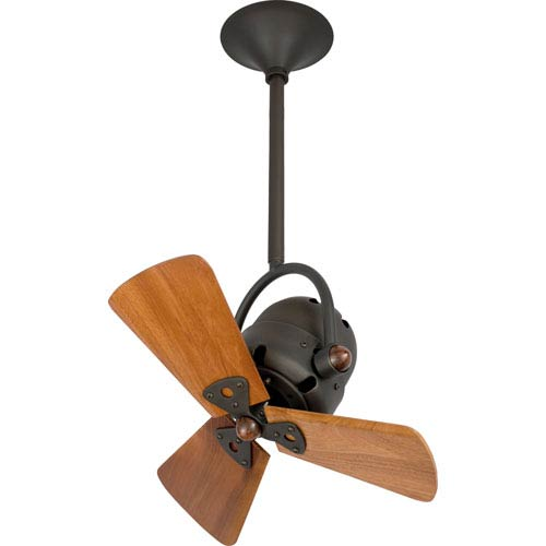 Bianca Bronze 16-Inch Ceiling Fan with Mahogany Blades