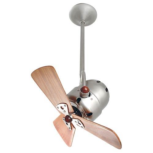 Matthews Fan Bianca Directional Brushed Nickel 16-Inch Ceiling Fan with Wood Blades