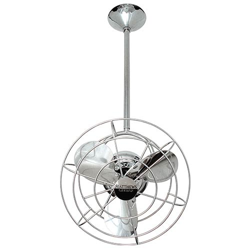 Bianca Directional Polished Chrome 13-Inch Ceiling Fan with Metal Blades