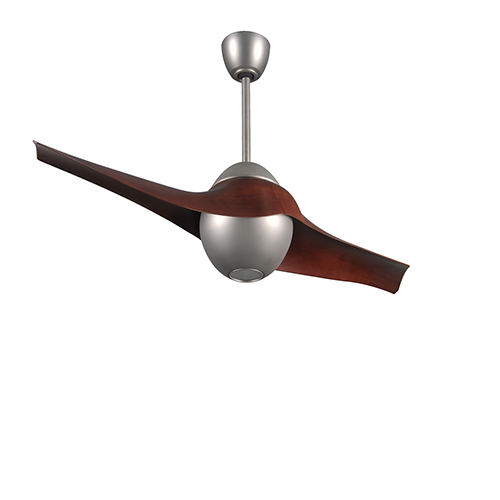 C-IV Brushed Nickel 60-Inch LED Ceiling Fan with Rosewood Blades