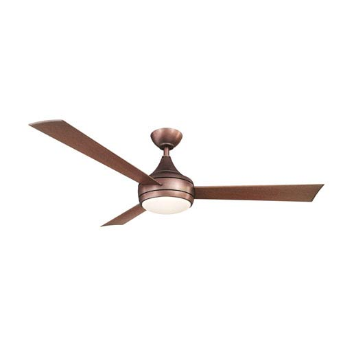 Donaire Brushed Bronze One-Light Paddle Fan with LED Light Kit