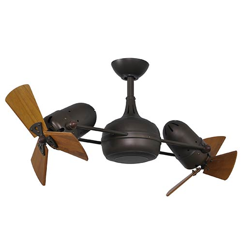 Matthews Fan Dagny Textured Bronze 40 Inch Dual Rotational Ceiling With Wood Blades