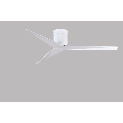 Eliza Gloss White Hugger Ceiling Fan