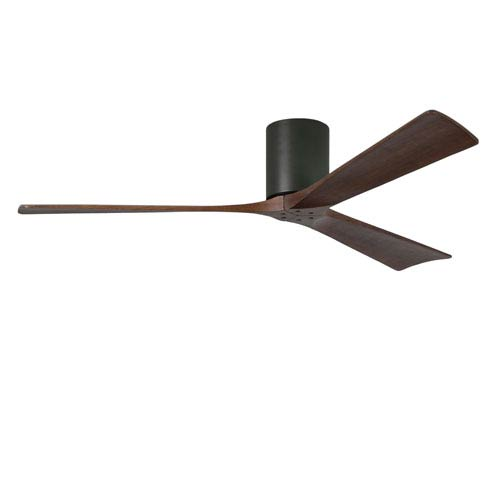 Matthews Fan Irene-H Three Blade Matte Black 60-Inch Hugger-Style Ceiling Fan