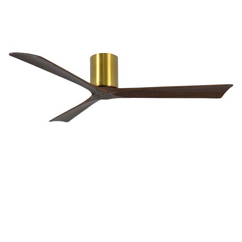 Irene-H Three Blade Brushed Brass 60-Inch Hugger-Style Ceiling Fan