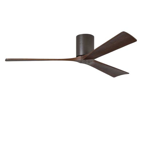 Irene-H Three Blade Textured Bronze 60-Inch Hugger-Style Ceiling Fan