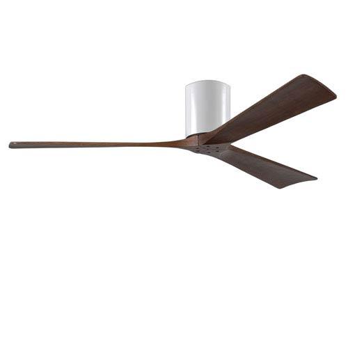 Irene-H Three Blade Gloss White 60-Inch Hugger-Style Ceiling Fan