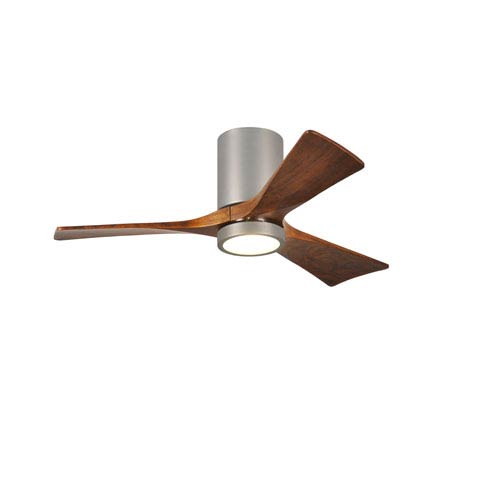 Irene-H Three Blade Brushed Nickel 42-Inch LED One-Light Hugger-Style Ceiling Fan