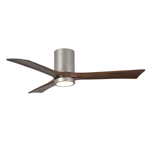 Matthews Fan Irene-H Three Blade Brushed Nickel 52-Inch LED One-Light Hugger-Style Ceiling Fan