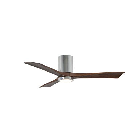 Matthews Fan Irene-H Three Blade Polished Chrome 52-Inch LED One-Light Hugger-Style Ceiling Fan