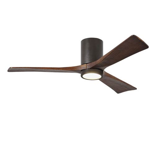 Irene-H Three Blade Textured Bronze 52-Inch LED One-Light Hugger-Style Ceiling Fan