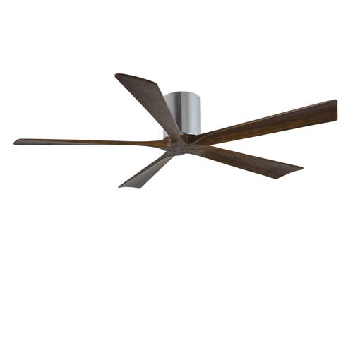 Irene-H Five Blade Polished Chrome 60-Inch Hugger-Style Ceiling Fan