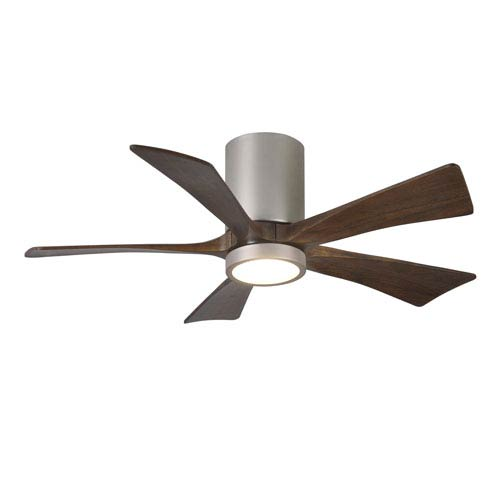 Matthews Fan Irene-H Five Blade Brushed Nickel 42-Inch LED One-Light Hugger-Style Ceiling Fan